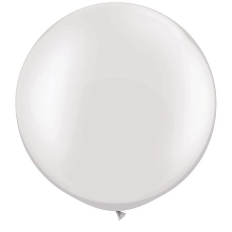 "Baloane latex Jumbo 30"" Pearl White, Qualatex 39946, set 2 buc"
