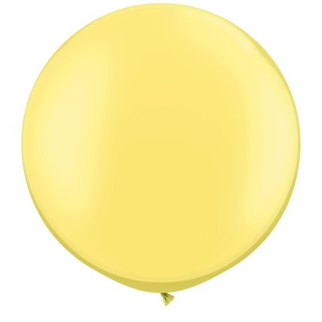 "Baloane latex Jumbo 30"" Pearl Lemon Chiffon, Qualatex 38485, set 2 buc"