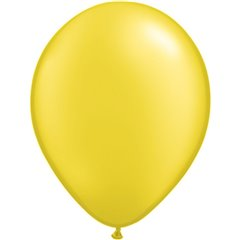 Balon Latex Pearl Citrine Yellow 5 inch (13 cm), Qualatex 43580, set 100 buc