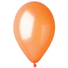 Orange 31 Metallic Latex Balloons , 10 inch (26 cm), Gemar GM90.31