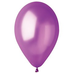 Purple 34 Metallic Latex Balloons , 10 inch (26 cm), Gemar GM90.34