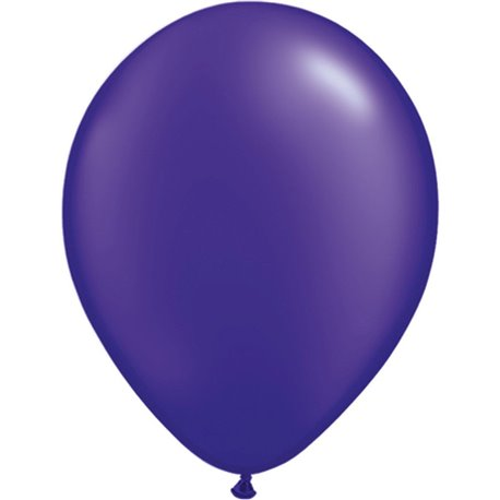 Balon Latex Pearl Quartz Purple 16 inch (41 cm), Qualatex 87177, set 50 buc