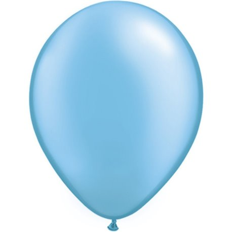 Pack of 8 Sky Blue Pearlised 30 cm Balloons Party Balloon