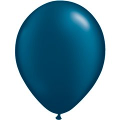Pearl Midnight Blue Latex Balloon, 11 inch (28 cm), Qualatex 43780