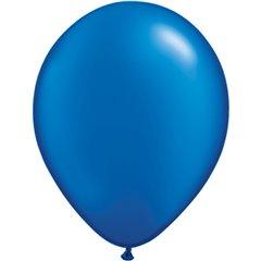 Balon Latex Pearl Sapphire Blue 11 inch (28 cm), Qualatex 43786, set 100 buc