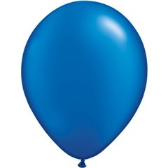 Pearl Sapphire Blue Latex Balloon, 16 inch (41 cm), Qualatex 87174, Pack of 50 pieces