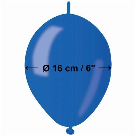 Baloane latex Cony sidefate 16 cm, Albastru 54, Gemar GLM6.54, set 100 buc
