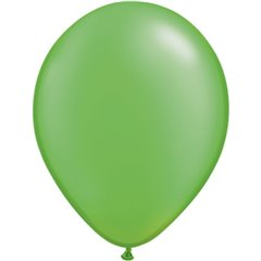 Pearl Lime Green Latex Balloon, 11 inch (28 cm), Qualatex 49957