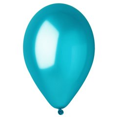 Blue 36 Metallic Latex Balloons , 10 inch (26 cm), Gemar GM90.36