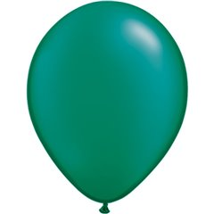 Pearl Emerald Green Latex Balloon, 16 inch (41 cm), Qualatex 87175, Pack of 50 pieces