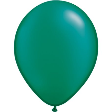 Balon Latex Pearl Emerald Green 11 inch (28 cm), Qualatex 43772, set 100 buc