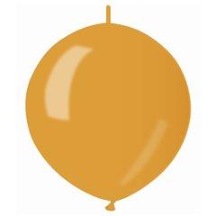 Baloane latex Cony sidefate 33 cm, Auriu 39, Gemar GLM13.39, set 100 buc