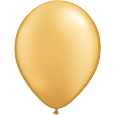Balon Latex Gold 16 inch (41 cm), Qualatex 43868, set 50 buc
