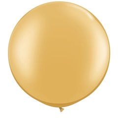 """30"""" Jumbo Latex Balloons,  Gold, Qualatex 38422, Pack of 2 Pieces"""