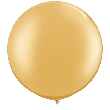 "Baloane latex Jumbo 30"" Gold, Qualatex 38422, set 2 buc"