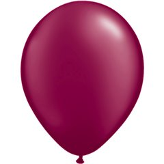 Pearl Burgundy Latex Balloon, 11 inch (28 cm), Qualatex 43769