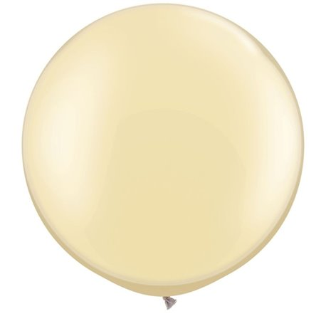 "Baloane latex Jumbo 30"" Pearl Ivory, Qualatex 38508, set 2 buc"