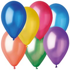 Assorted Metallic Latex Balloons , 10 inch (26 cm), Gemar GM90.ASS