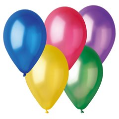 Assorted Metallic Latex Balloons , 12 inch (30 cm), Gemar GM110.ASS