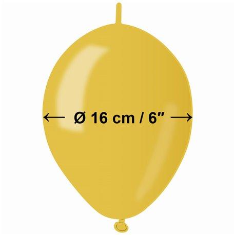 Baloane latex Cony sidefate 16 cm, Galben 30, Gemar GLM6.30, set 100 buc