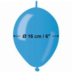 Baloane latex Cony sidefate 16 cm, Albastru 36, Gemar GLM6.36