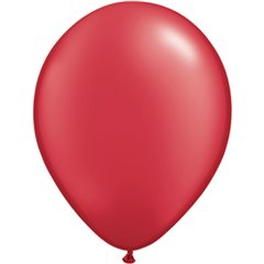 Pearl Ruby Red Latex Balloon, 11 inch (28 cm), Qualatex 43785, Pack of 100 pieces