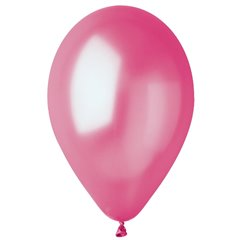 Fuchsia 64 Metallic Latex Balloons , 10 inch (26 cm), Gemar GM90.64