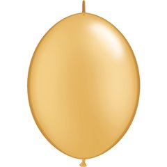 Cony Latex Balloon, Gold 12 inch (30 cm), Qualatex 65245