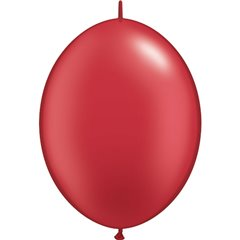 Cony Latex Balloon, Pearl Ruby Red 12 inch (30 cm), Qualatex 65291, Pack of 50 pieces