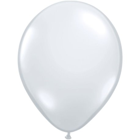 Balon Latex Diamond Clear, 11 inch (28 cm), Qualatex 43741, set 100 buc
