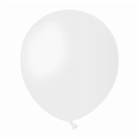 Baloane Latex 13 cm, Alb 01, Gemar A50.01, set 100 buc