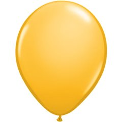 Goldenrod Latex Balloon, 5 inch (13 cm), Qualatex 43559, Pack of 100 pieces