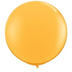 3' Jumbo Latex Balloons, Goldenrod, Qualatex 43633