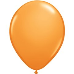 Orange Latex Balloon, 9 inch (23 cm), Qualatex 43696