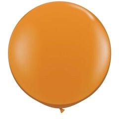 3' Jumbo Latex Balloons, Mandarin Orange, Qualatex 43263, Pack of 2 pieces