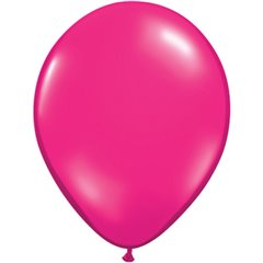Balon Latex Jewel Magenta, 5 inch (13 cm), Qualatex 99326, set 100 buc