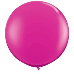 Baloane latex Jumbo 3' Jewel Magenta, Qualatex 43492, set 2 buc