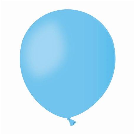 Baloane Latex 13 cm, Albastru Deschis 09, Gemar A50.09, set 100 buc