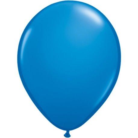 Balon Latex Dark Blue, 5 inch (13 cm), Qualatex 43553, set 100 buc