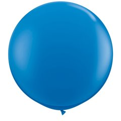 Baloane latex Jumbo 3 ft Dark Blue, Qualatex 41996, 1 buc
