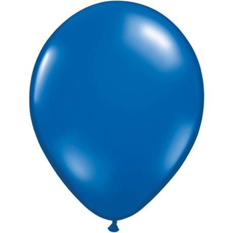 Balon Latex Sapphire Blue, 11 inch (28 cm), Qualatex 43793, set 100 buc