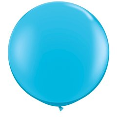 3' Jumbo Latex Balloons, Robin's Egg Blue, Qualatex 82784