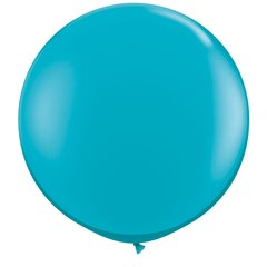 Baloane latex Jumbo 3 ft Tropical Teal, Qualatex 43514, 1 buc