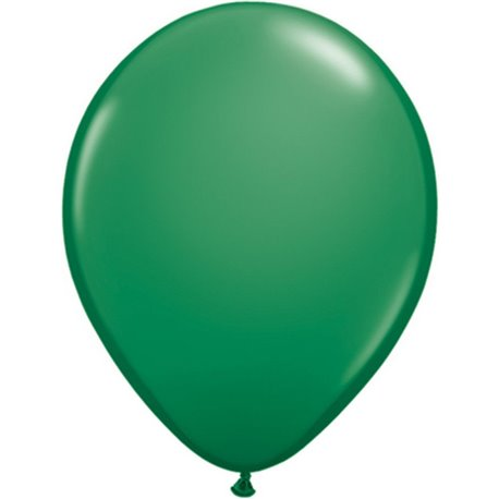 Balon Latex Green, 9 inch (23 cm), Qualatex 43687, set 100 buc