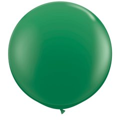 Baloane latex Jumbo 3' Green, Qualatex 41997, set 2 buc
