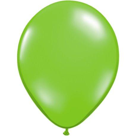 Balon Latex Jewel Lime, 11 inch (28 cm), Qualatex 78194, set 100 buc