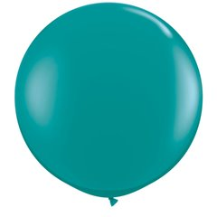 Baloane latex Jumbo 3' Jewel Teal, Qualatex 43458, set 2 buc