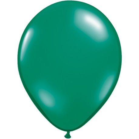 Balon Latex Emerald Green, 5 inch (13 cm), Qualatex 43555, set 100 buc