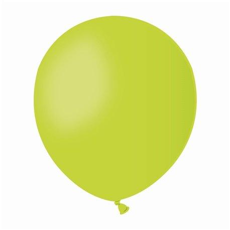 Baloane Latex 13 cm, Verde Deschis 11, Gemar A50.11, set 100 buc