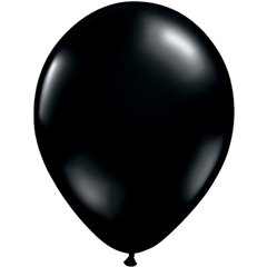 Onyx Black Latex Balloon, 5 inch (13 cm), Qualatex 43548, Pack of 100 pieces